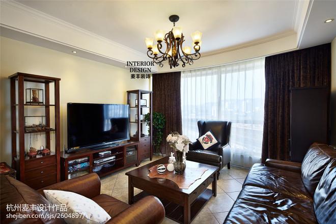美式客厅时尚仿皮沙发家居设计