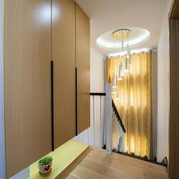 现代风格楼梯间灯光照明效果图