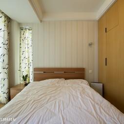 复式现代卧室窗帘效果图