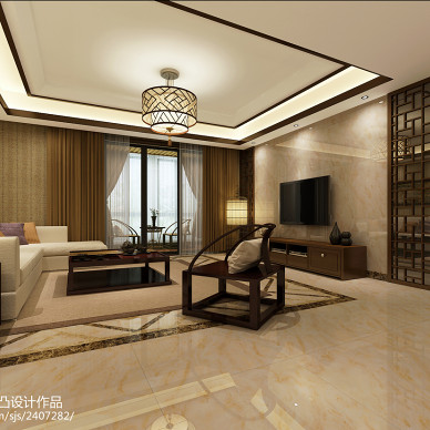 中式古典客廳裝飾圖片