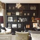 现代休闲别墅客厅装饰效果图