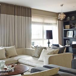 现代休闲别墅客厅窗户设计效果图
