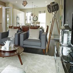 现代客厅休闲时尚布艺沙发装饰效果图