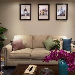 简约美式客厅原木家具装修图片