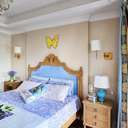 美式乡村风格卧室背景墙图片