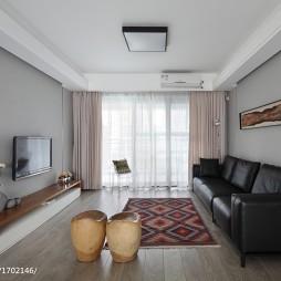 现代住宅空间亚克力吸顶灯图片