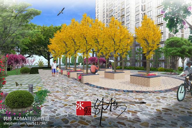 泰安高端小区绿化工程_1612207
