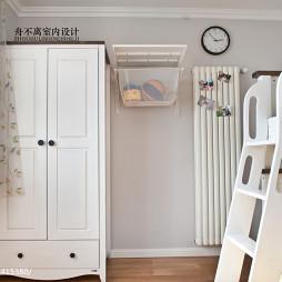 小户型混搭儿童房衣柜装修图片