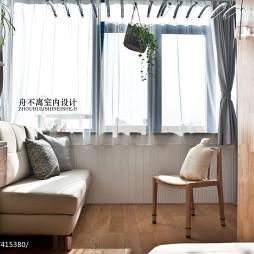 小户型混搭卧室窗帘装饰效果图