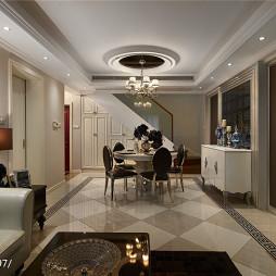 法式新古典客厅装修室内照明图片