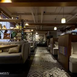 混搭风咖啡厅大厅设计效果图