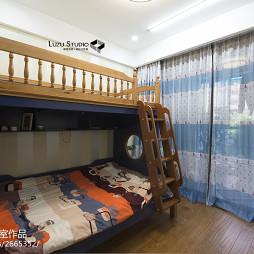 140平米新中式风格儿童房窗帘装修图片