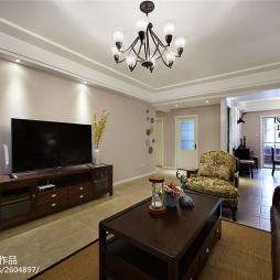 简约美式客厅实木家具装修图