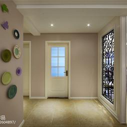 简约美式玄关背景墙设计