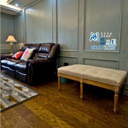 欧式客厅实木地板装修2017图片