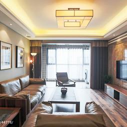 最新混搭客厅电视背景墙设计图片