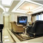 欧式复古风格客厅设计效果图