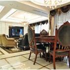 欧式复古风格客厅隔断设计