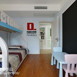 混搭风格儿童卧室上下床设计