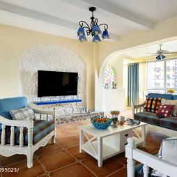 最新地中海风格客厅阳台装修设计