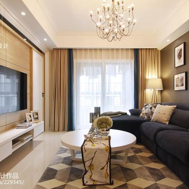 现代客厅电视墙家装效果图