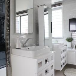 复式现代卫浴马赛克贴砖效果图