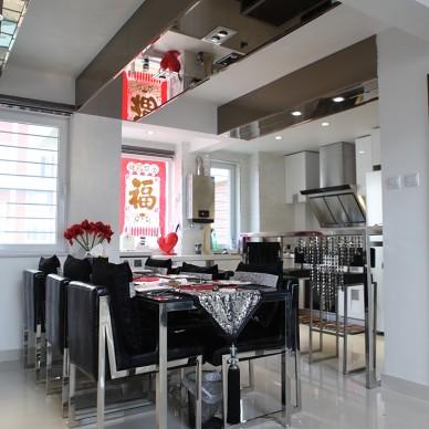 复式现代餐厅吊顶装修设计图片