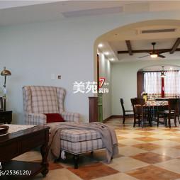美式客厅隔断家装设计效果图