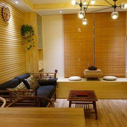 最新东南亚客厅地台装修
