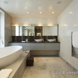 最新的欧美风格浴室台上盆欣赏图