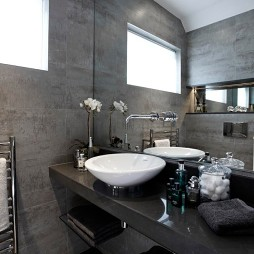 美式风格浴室台上盆欣赏