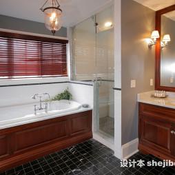 最新欧美风格浴室台下盆装修图