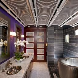 欧美风格浴室台下盆设计图