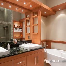 中式风格浴室台盆设计图