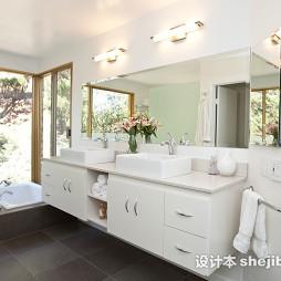 最新的浴室台盆效果图