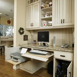 欧美风格家庭台式电脑桌