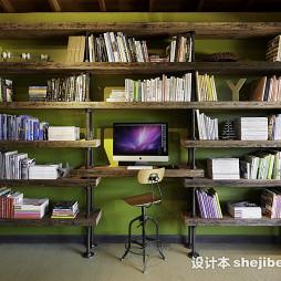 书房创意台式电脑桌欣赏图