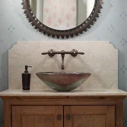 欧美复古风格陶瓷面盆