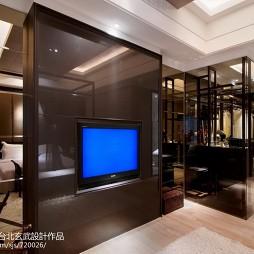 混搭风格客厅与卧室隔断设计