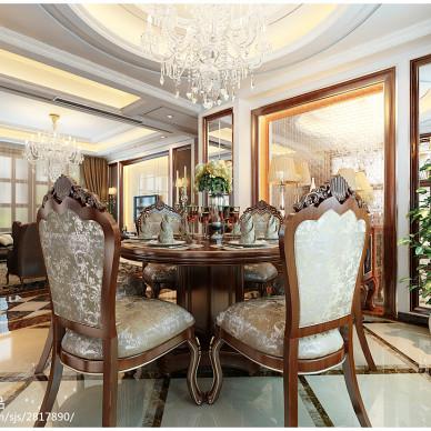 客餐厅简欧吊顶设计效果图图片