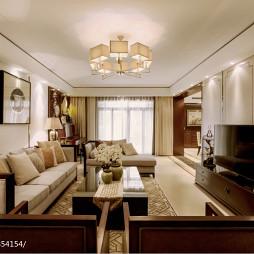 最新中式风格复式楼客厅装修设计