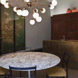 天然大理石餐桌效果图片