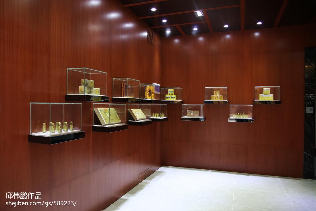 理科虫草王_展厅展示柜设计效果图 – 设计本装修效果图