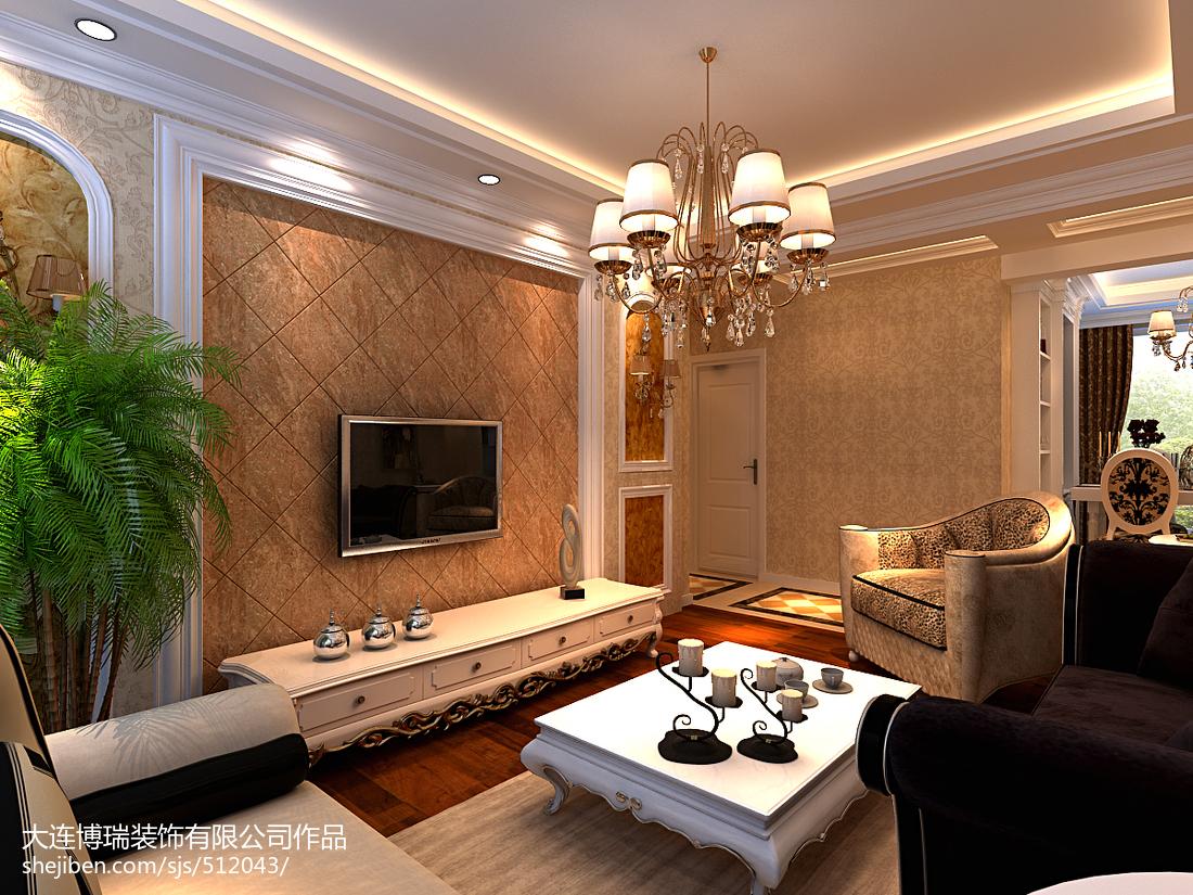 美式风格电视背景墙_美式风格电视背景墙效果图大全 – 设计本装修效果图