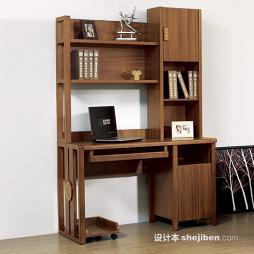 写字台书柜组合效果图图集