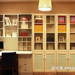 写字台书柜组合效果图图库