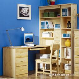 写字台书柜组合效果图图片大全