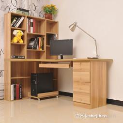 写字台书柜组合效果图图片大全欣赏