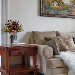 清新欧式风格客厅复古茶几装修设计