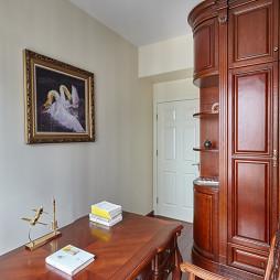 欧式古典风格书房装修设计效果图